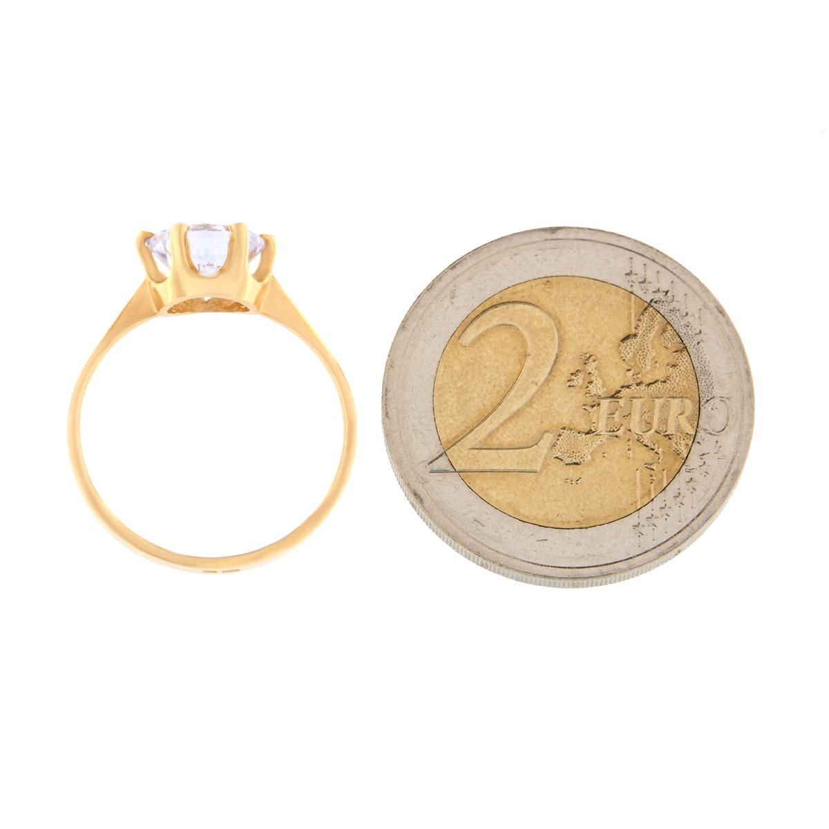 Kullast sõrmus tsirkooniga Kood: rn0153-valge