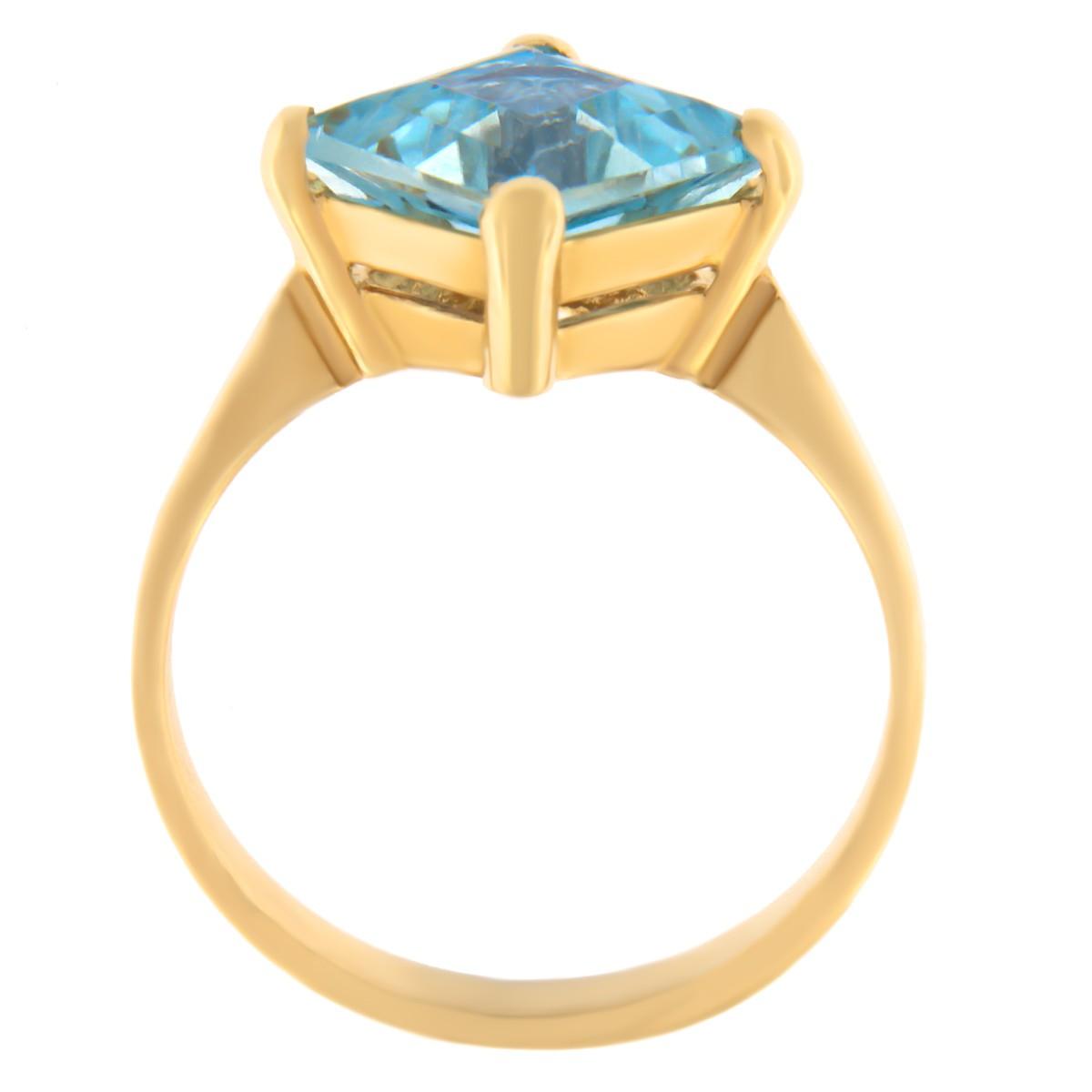 Kullast sõrmus topaasiga Kood: rn0149-topaas