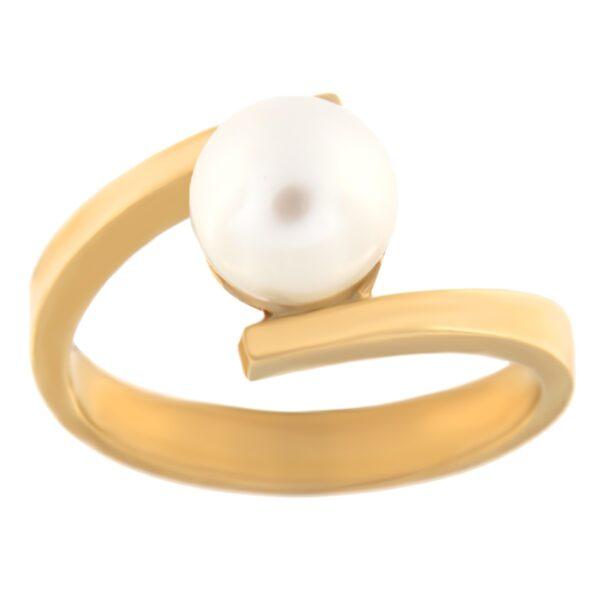 Kullast sõrmus pärliga Kood: rn0318-pärl