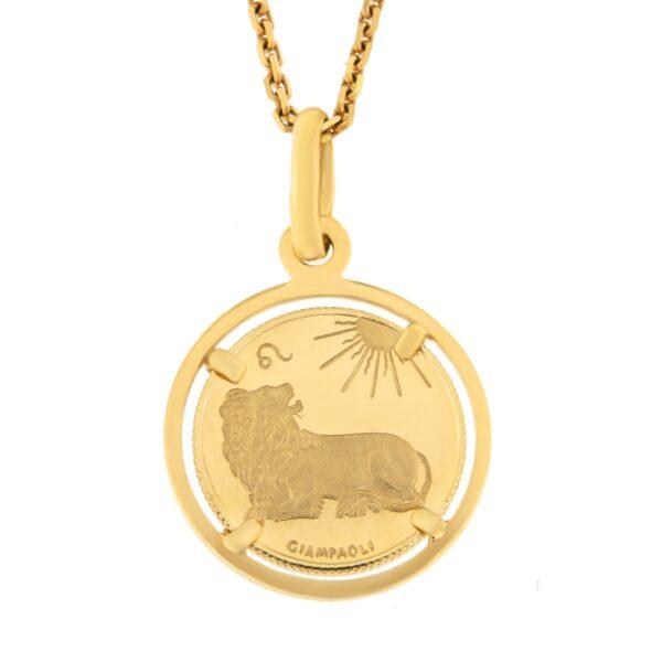 Kullast ripats, sodiaagimärk Kood: 2ce-lõvi