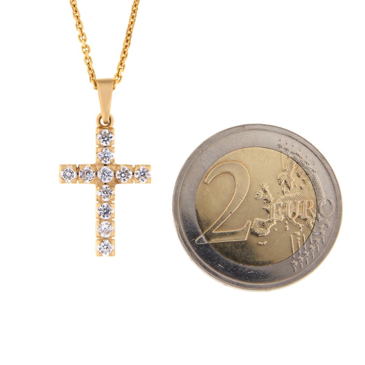 Kullast ripats rist tsirkoonidega Kood: pn0120-valge