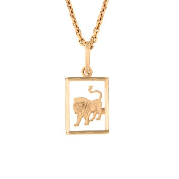 Kullast ripats, sodiaagimärk Kood: pn0138-lõvi