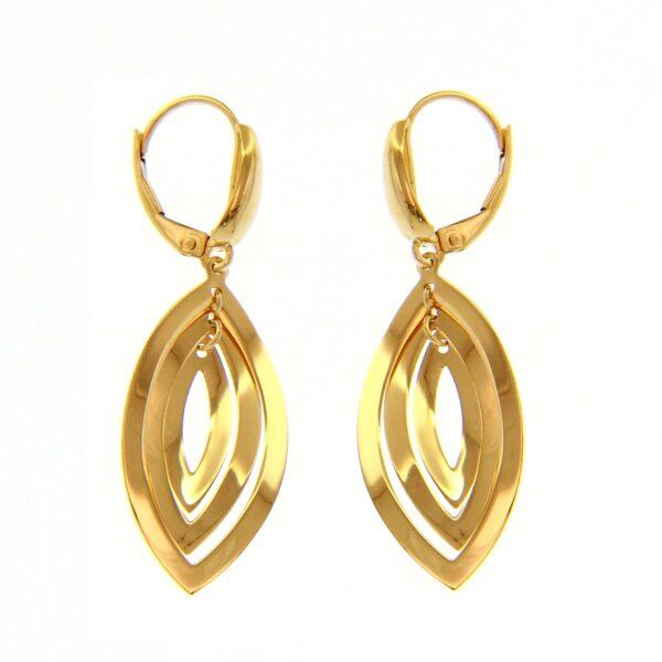 Kullast kõrvarõngad Kood: 225400