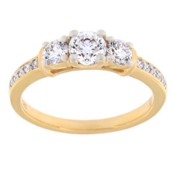 Kullast sõrmus teemantidega 0,74 ct. Kood: 53ae
