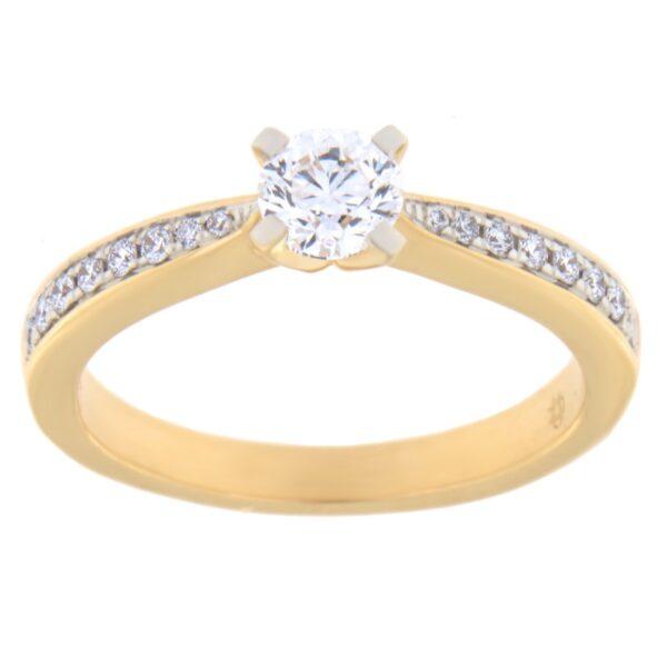 Kullast sõrmus teemantidega 0,50 ct. Kood: 86ae