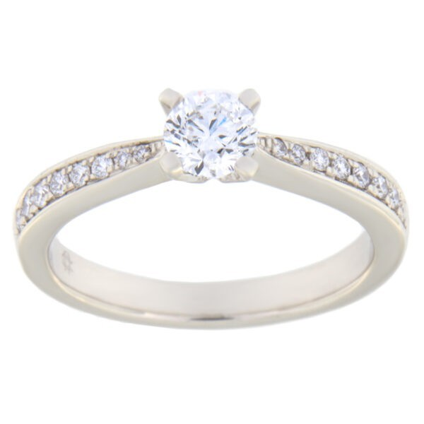 Kullast sõrmus teemantidega 0,50 ct. Kood: 87ae
