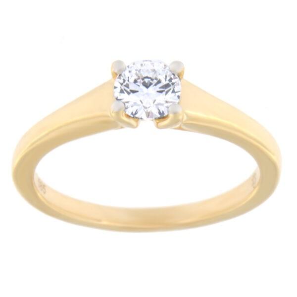 Kullast sõrmus teemantiga 0,39 ct. Kood: 107ae