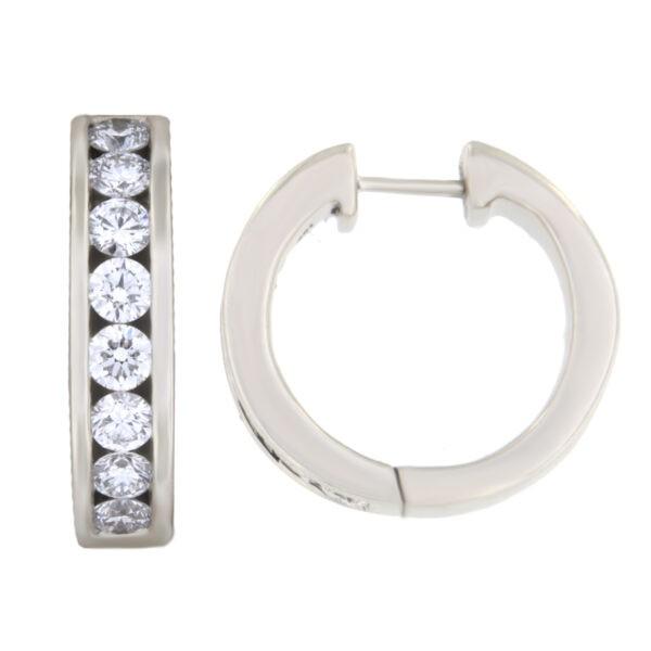 Kullast kõrvarõngad teemantidega 1,03 ct. Kood: 163ae