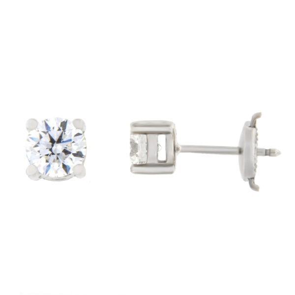 Kullast kõrvarõngad teemantidega 1,02 ct. Kood: 195ae