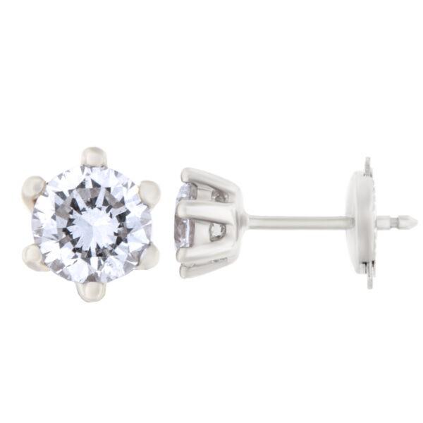 Kullast kõrvarõngad teemantidega 1,01 ct. Kood: 161ae