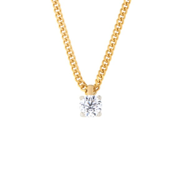 Kullast ripats teemantiga 0,30 ct. Kood: 182ae