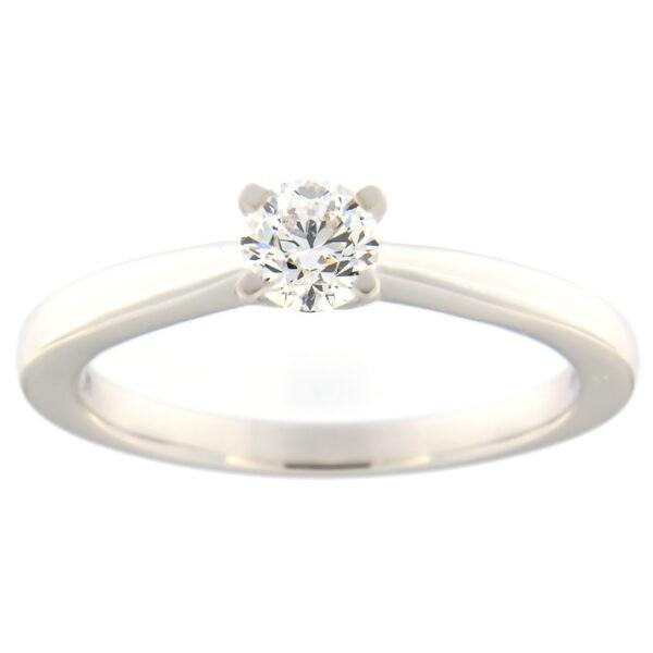 Kullast sõrmus teemantiga 0,40 ct. Kood: 91at-1