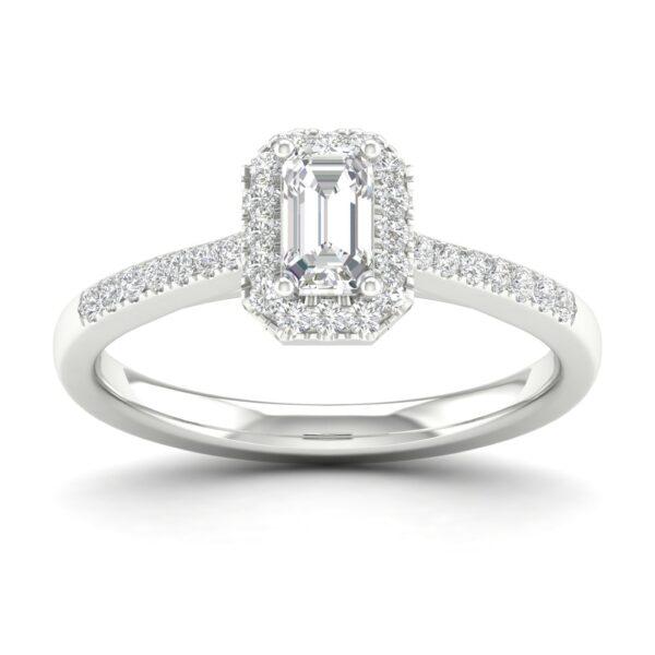Kullast sõrmus teemantidega 0,50 ct. Kood: 67hc