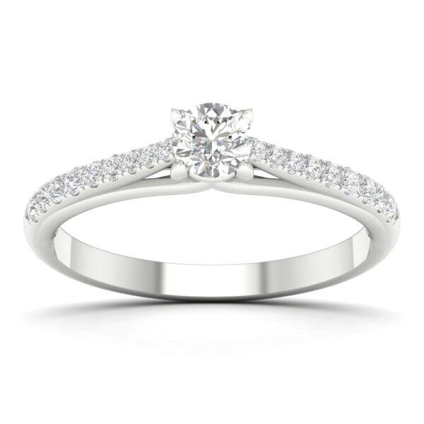 Kullast sõrmus teemantidega 0,50 ct. Kood: 72hc