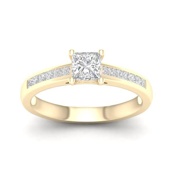 Kullast sõrmus teemantidega 0,75 ct. Kood: 49hc
