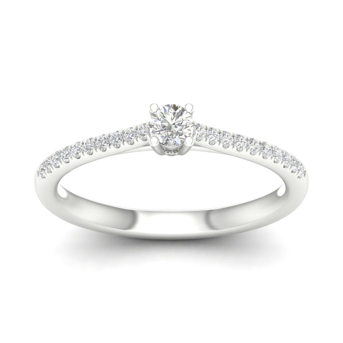 Kullast sõrmus teemantidega 0,20 ct. Kood: 53hc