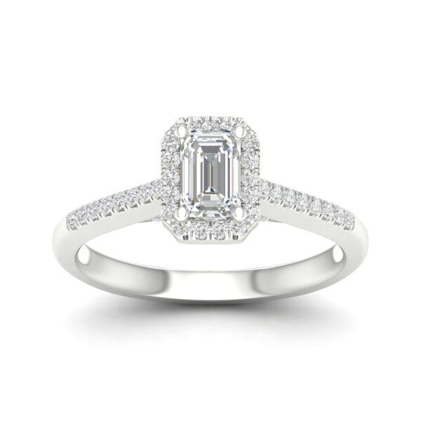 Kullast sõrmus teemantidega 0,75 ct. Kood: 75hc