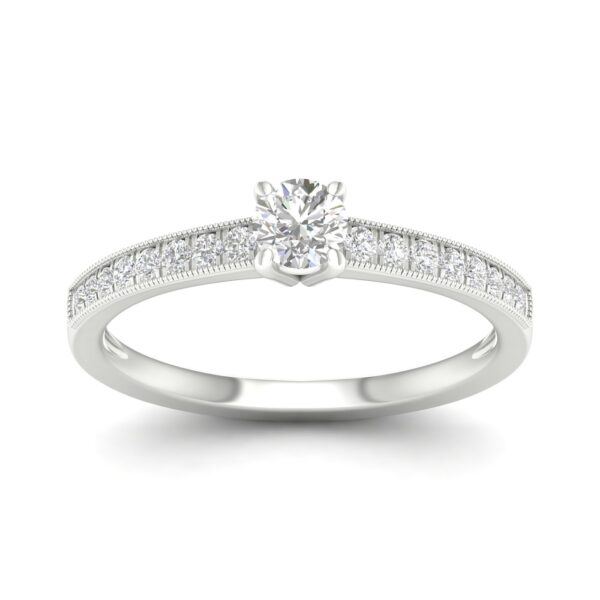 Kullast sõrmus teemantidega 0,50 ct. Kood: 22hc