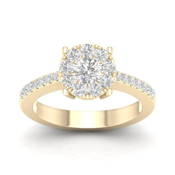 Kullast sõrmus teemantidega 0,80 ct. Kood: 46hc
