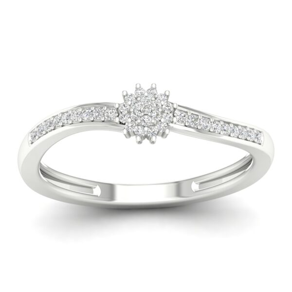 Kullast sõrmus teemantidega 0,12 ct. Kood: 32hc