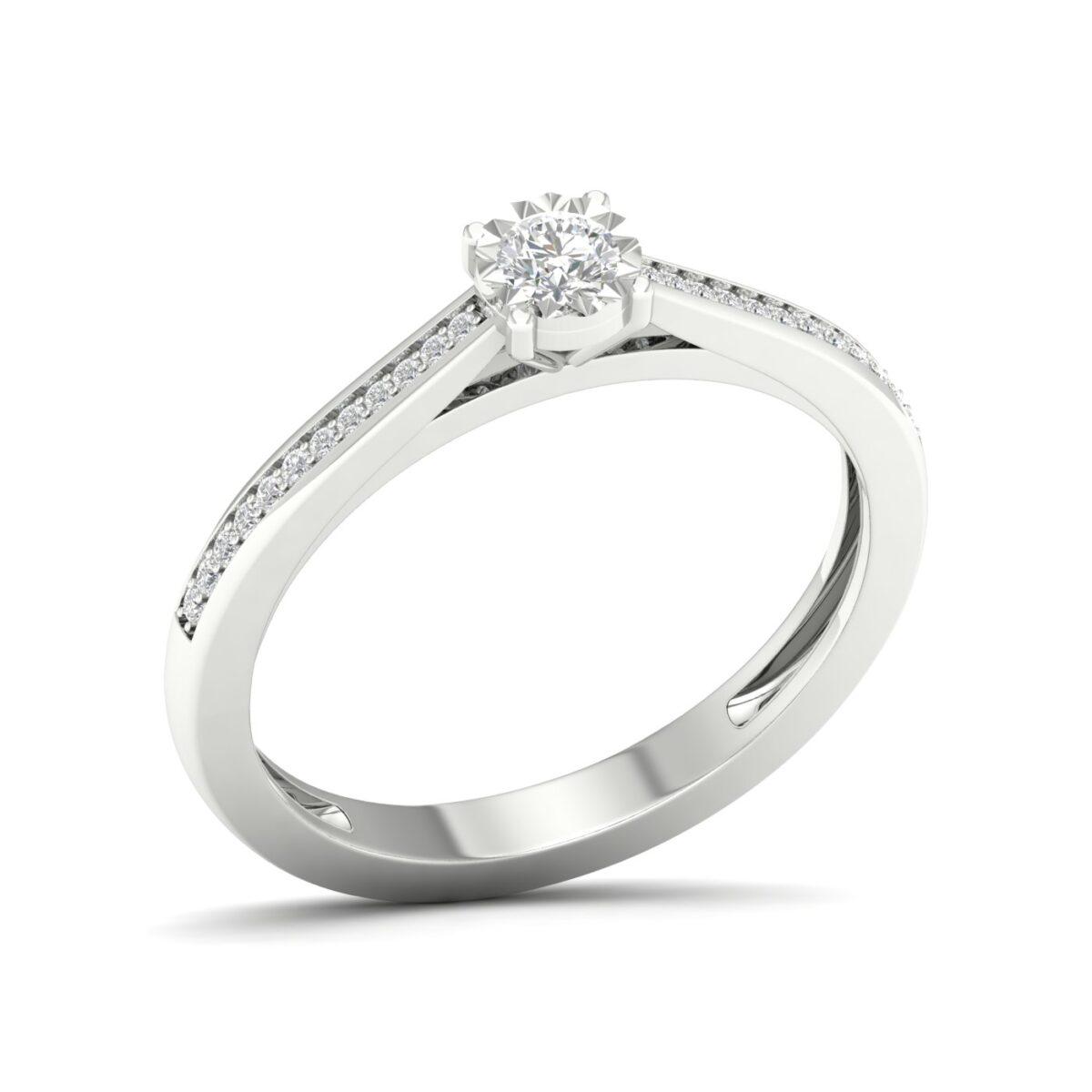 Kullast sõrmus teemantidega 0,17 ct. Kood: 51hc