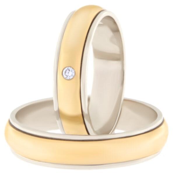 Kullast abielusõrmus teemantiga Kood: Rn0112-5l-pks-av-1k-lõiketa