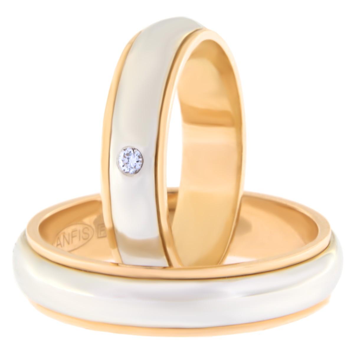 Kullast abielusõrmus teemantiga Kood: Rn0112-5l-pvs-ak-1k-lõiketa