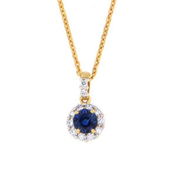 Kullast ripats teemantide ja safiiriga Kood: 51m