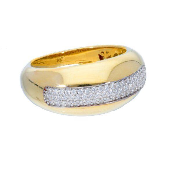Kullast sõrmus tsirkoonidega Kood: 242680