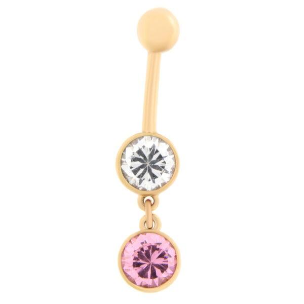 Kullast nabarõngas tsirkoonidega Kood: pn0140-valge-roosa