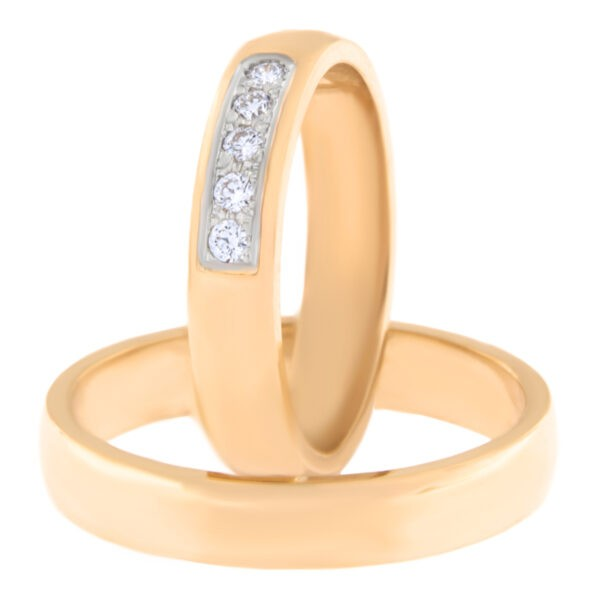 Kullast abielusõrmus teemantidega Kood: Rn0116-4-5kk